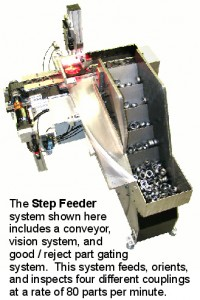 Step Feeder with Vision System and text